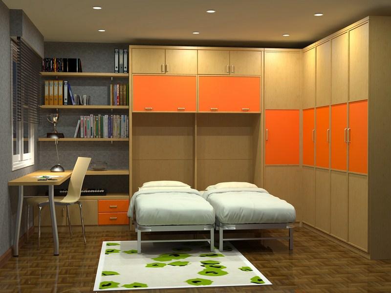 Camas verticales fabricadas a medida parchis muebles for Muebles de oficina jovalu