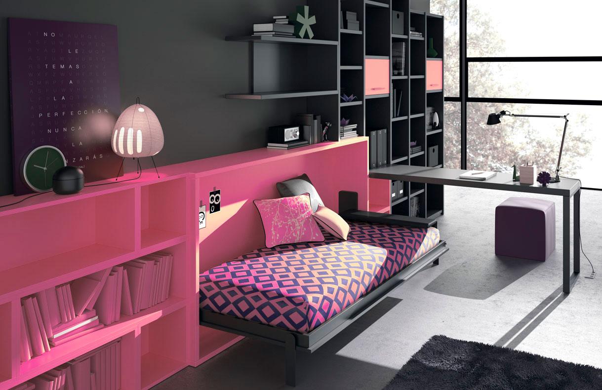 habitaciones-juveniles-rosa
