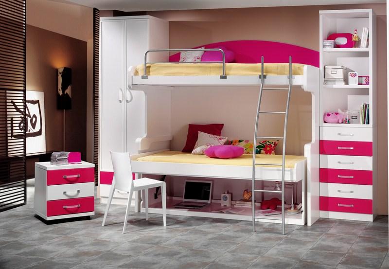 Parchis camas escritorio para habitaciones juveniles for Escritorios dobles juveniles
