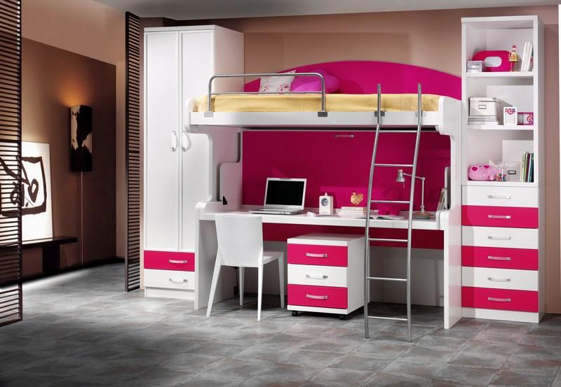 Parchis camas escritorio para habitaciones juveniles - Camas con escritorio debajo precios ...