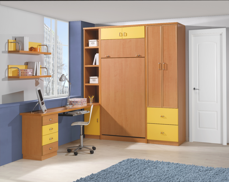 Literas plegables con escritorio simple with literas for Mueble litera abatible vertical