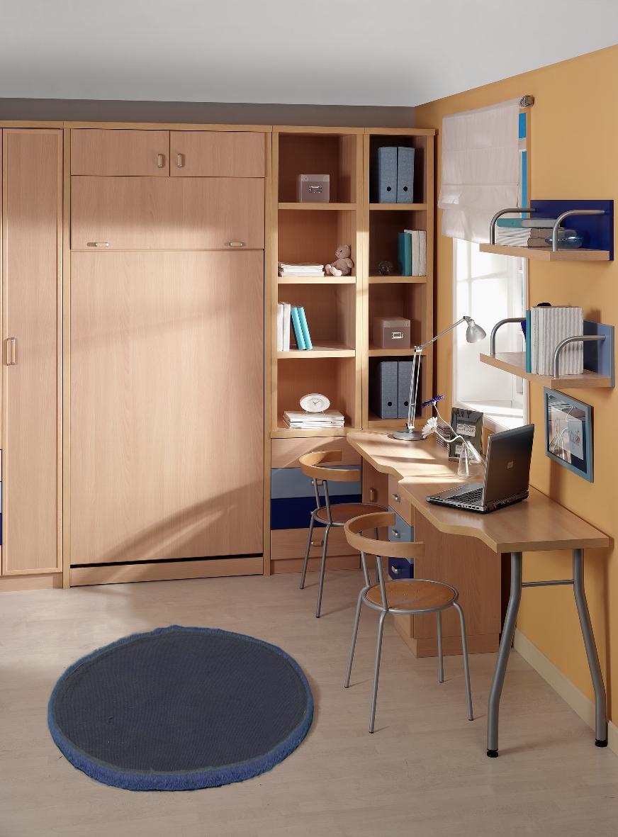 Literas verticales de dise o juvenil parchis muebles - Literas plegables verticales ...