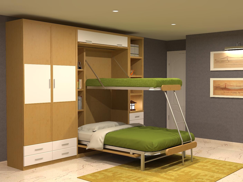 Literas verticales de dise o juvenil parchis muebles for Mueble litera abatible vertical