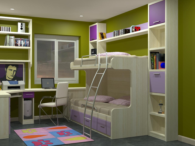 Nidos litera a medida parchis muebles juveniles a medida - Dormitorio malva ...